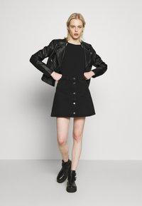 Monki - MARY SKIRT - A-line skirt - dark black - 1