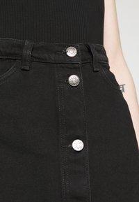 Monki - MARY SKIRT - A-line skirt - dark black - 6
