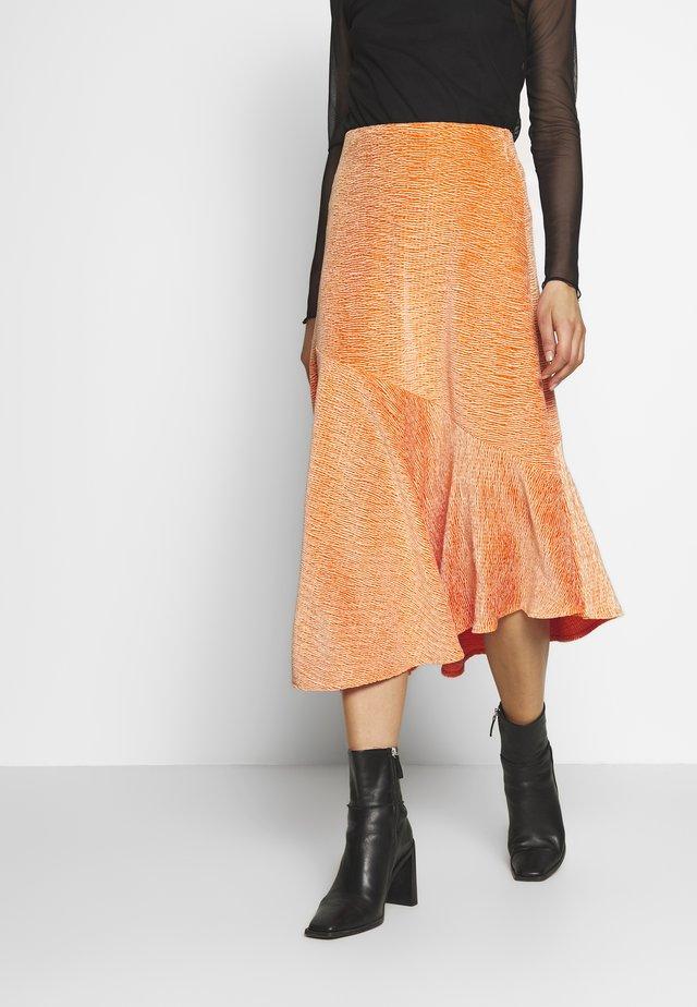 SKIRT - Jupe trapèze - crushed orange