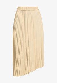 Monki - YAN PLISSE SKIRT - Spódnica trapezowa - beige - 3