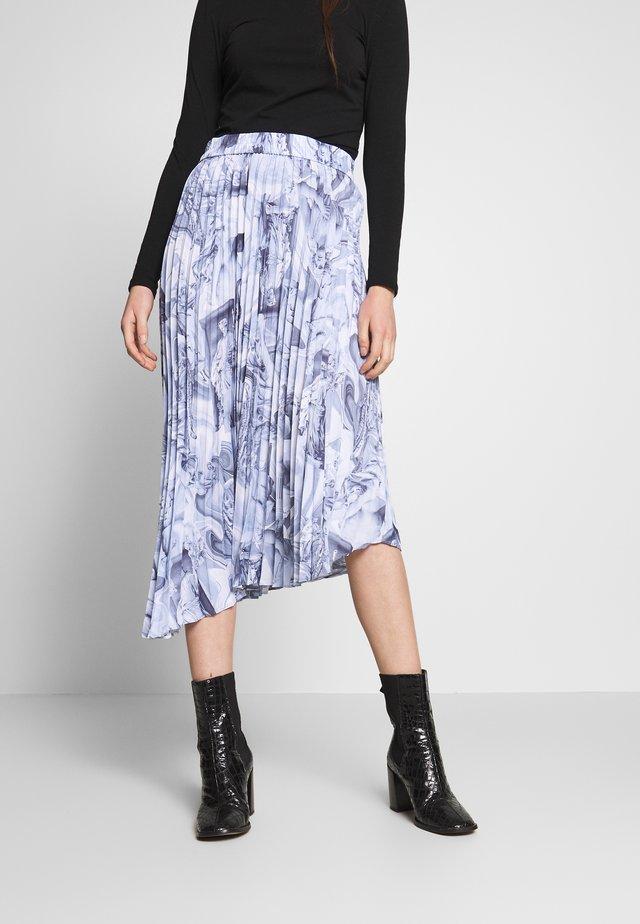 YAN PLISSE SKIRT - Spódnica trapezowa - blue