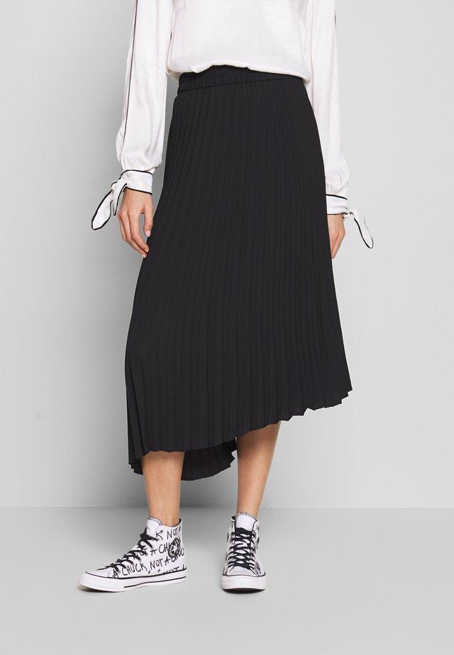 YAN PLISSE SKIRT - Spódnica trapezowa - black