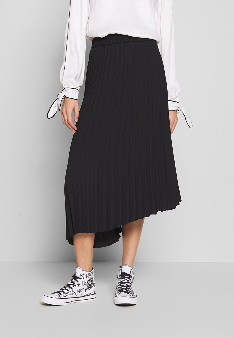 Monki - YAN PLISSE SKIRT - A-snit nederdel/ A-formede nederdele - black