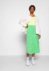 Monki - FRAN WRAP - A-line skirt - green medium - 1