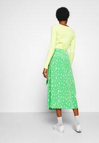 Monki - FRAN WRAP - A-line skirt - green medium - 2