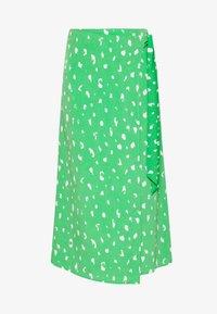 Monki - FRAN WRAP - A-line skirt - green medium - 3