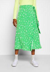 Monki - FRAN WRAP - A-line skirt - green medium - 0
