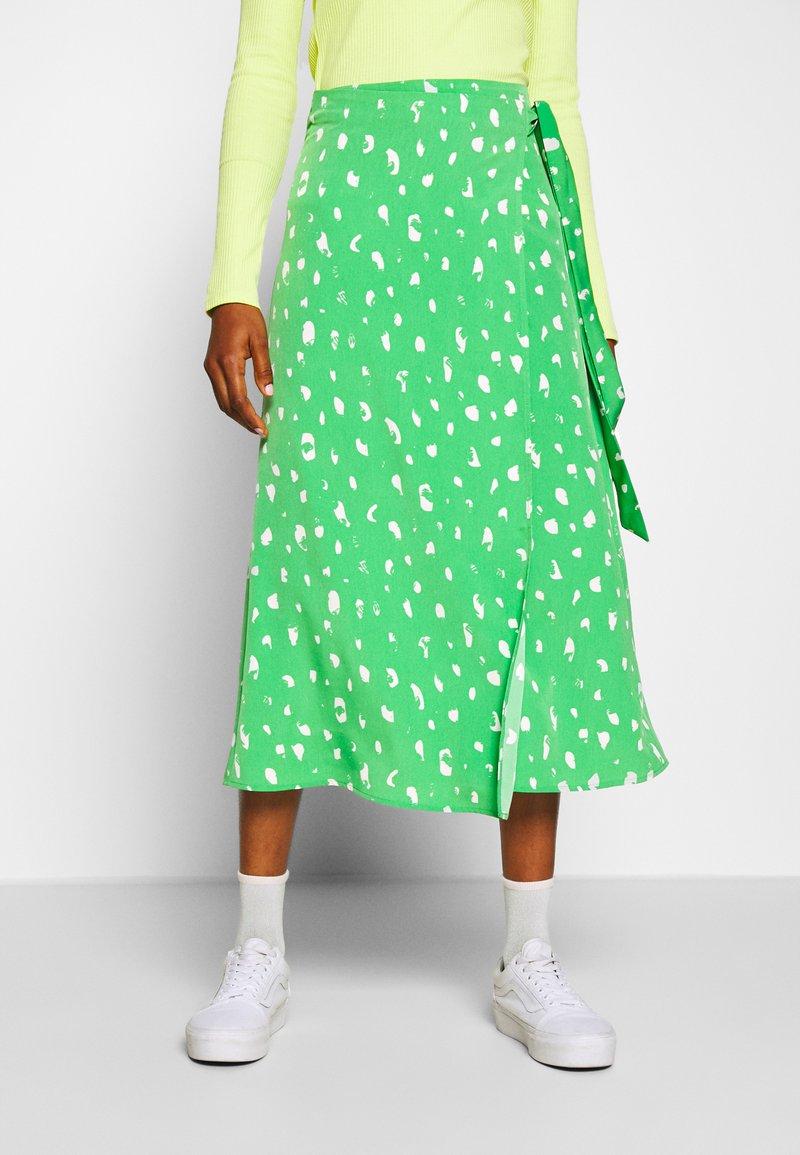 Monki - FRAN WRAP - A-line skirt - green medium