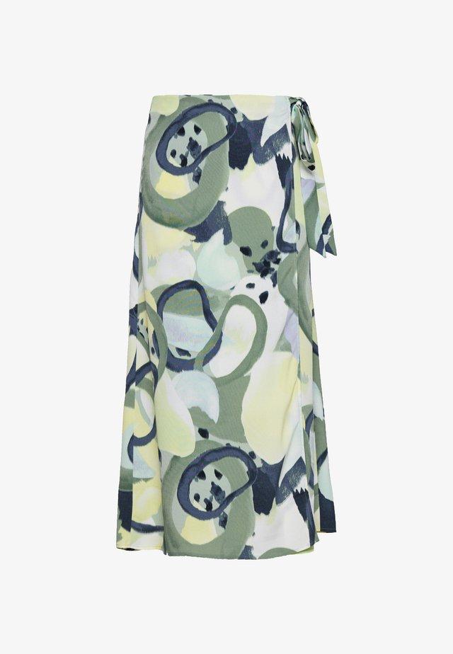 FRAN WRAP - A-snit nederdel/ A-formede nederdele - khaki/green/dusty light khaki