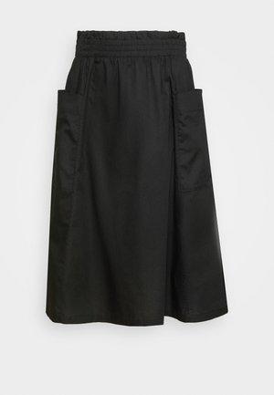 QIA SKIRT - Jupe trapèze - black dark