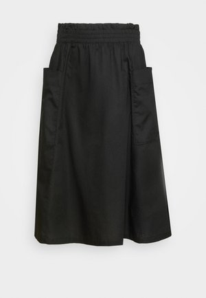 QIA SKIRT - Jupe trapèze - black dark