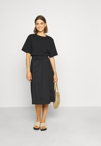 Monki - QIA SKIRT - A-line skirt - black dark - 1