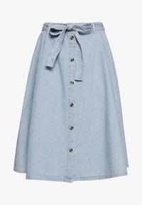 Monki - REGINA SKIRT - A-line skjørt - blue medium dusty blue/white - 0