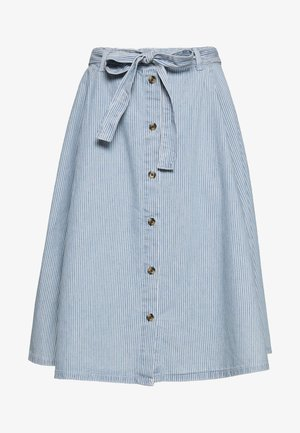 REGINA SKIRT - A-line skirt - blue medium dusty blue/white