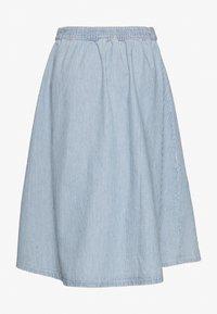 Monki - REGINA SKIRT - A-line skjørt - blue medium dusty blue/white - 1