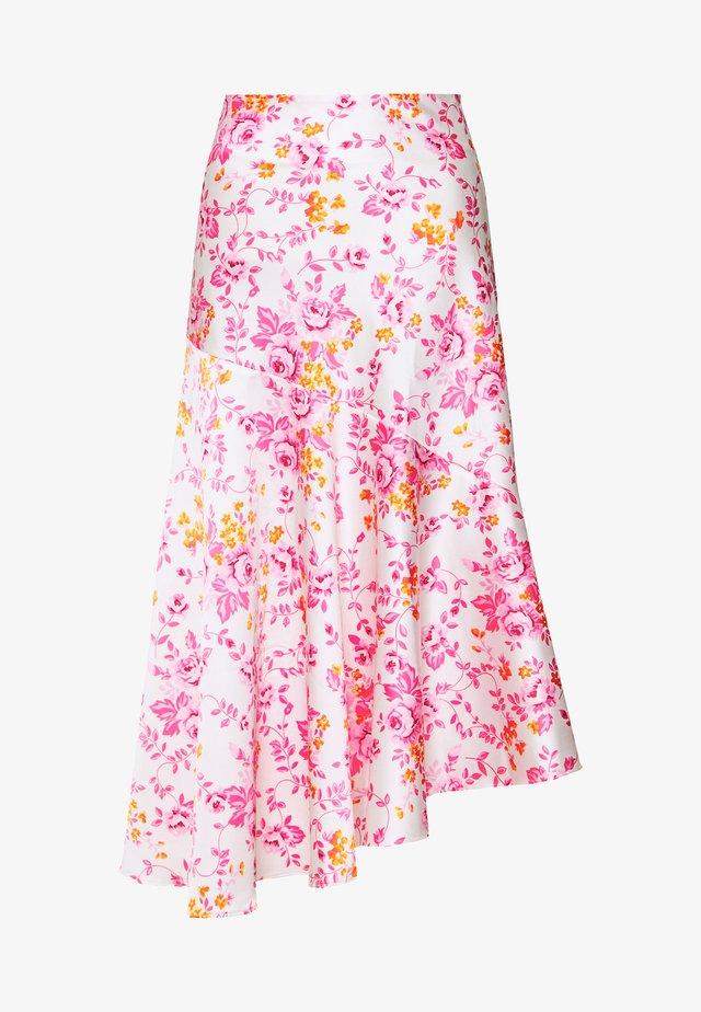 SKIRT - Jupe trapèze - white/light pink