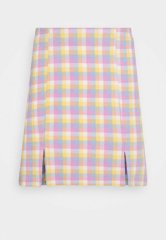 RENATA SKIRT - Mini skirts  - blue