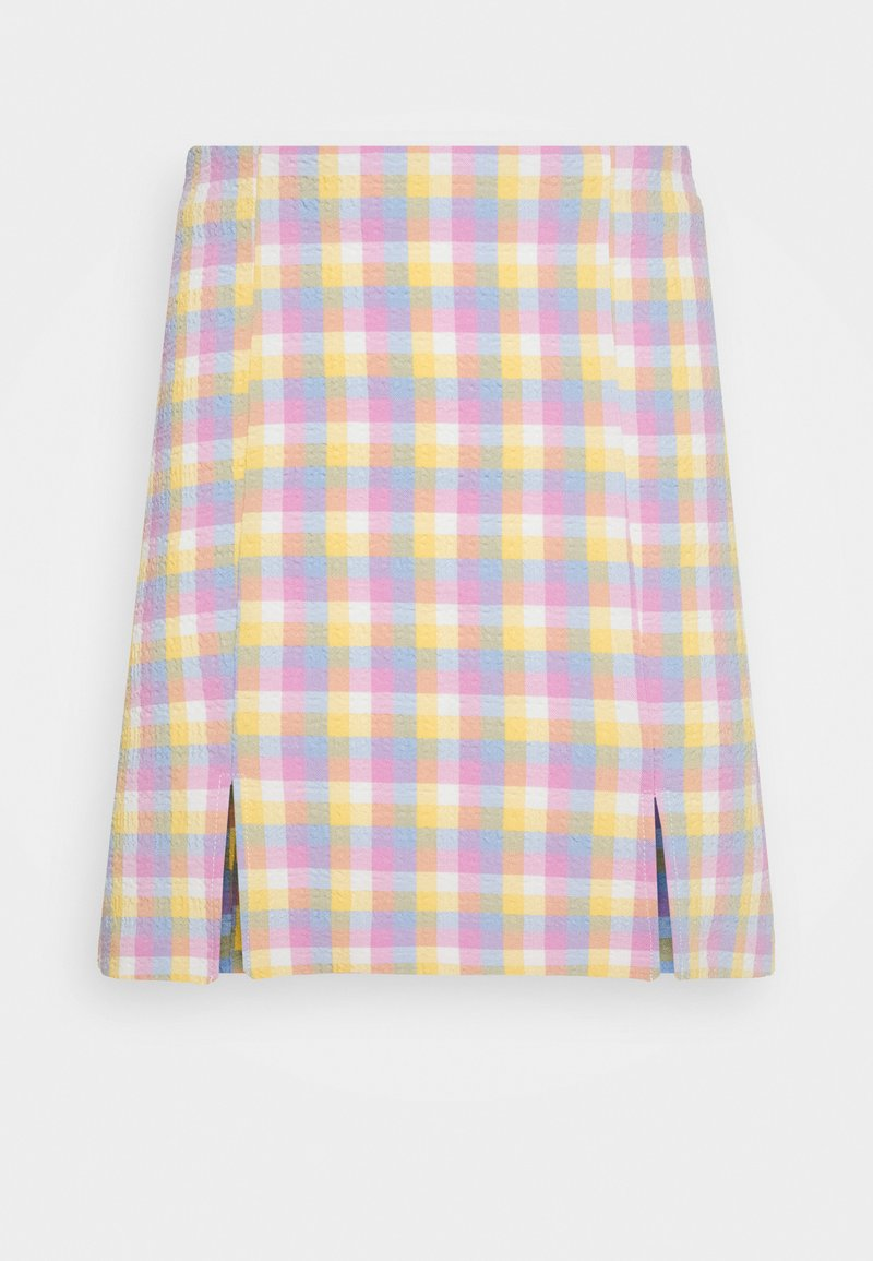 Monki - RENATA SKIRT - Mini skirt - blue