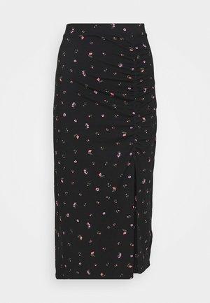 VANESSA SKIRT - Jupe longue - black