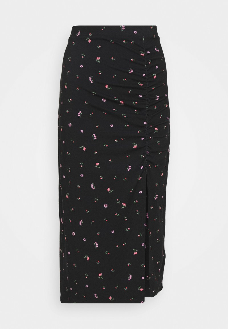 Monki - VANESSA SKIRT - Maxiskjørt - black