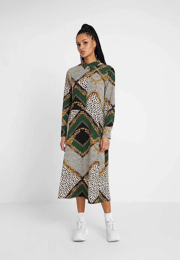 Monki - ADA DRESS - Robe longue - green/black
