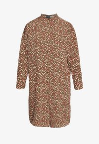 Monki - TOMI DRESS - Skjortekjole - khaki/pink - 4