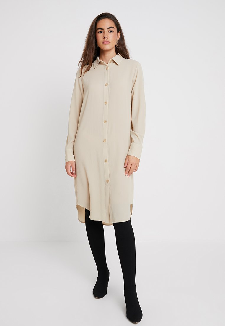 Monki - KIRA DRESS - Vestido camisero - beige