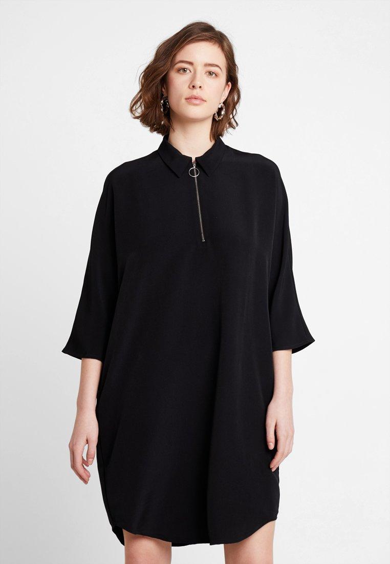 Monki - MOLLY DRESS - Blusenkleid - black