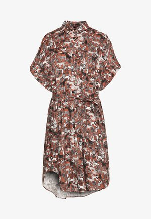 NINNI DRESS - Paitamekko - brown/white