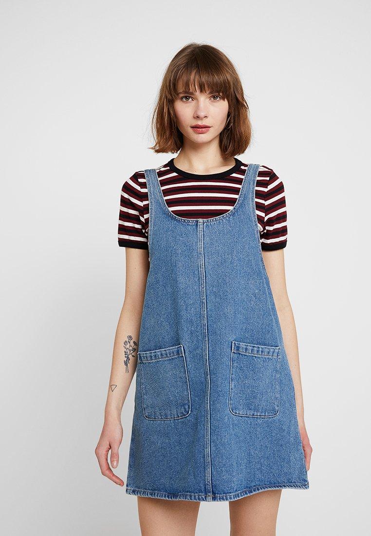 Monki - AGNES DRESS - Vestito di jeans - blue