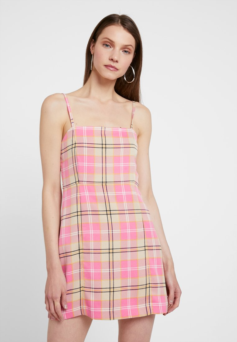Monki - JUDY OCCASION DRESS - Freizeitkleid - pink/yellow/white