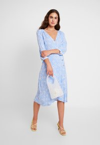 Monki - TORYN DRESS - Shirt dress - blue dusty light - 2