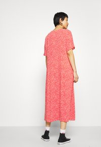 Monki - SILENA DRESS - Skjortekjole - red - 2