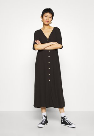 SILENA DRESS - Skjortekjole - black