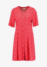 Monki - WINONA DRESS - Košilové šaty - red - 3