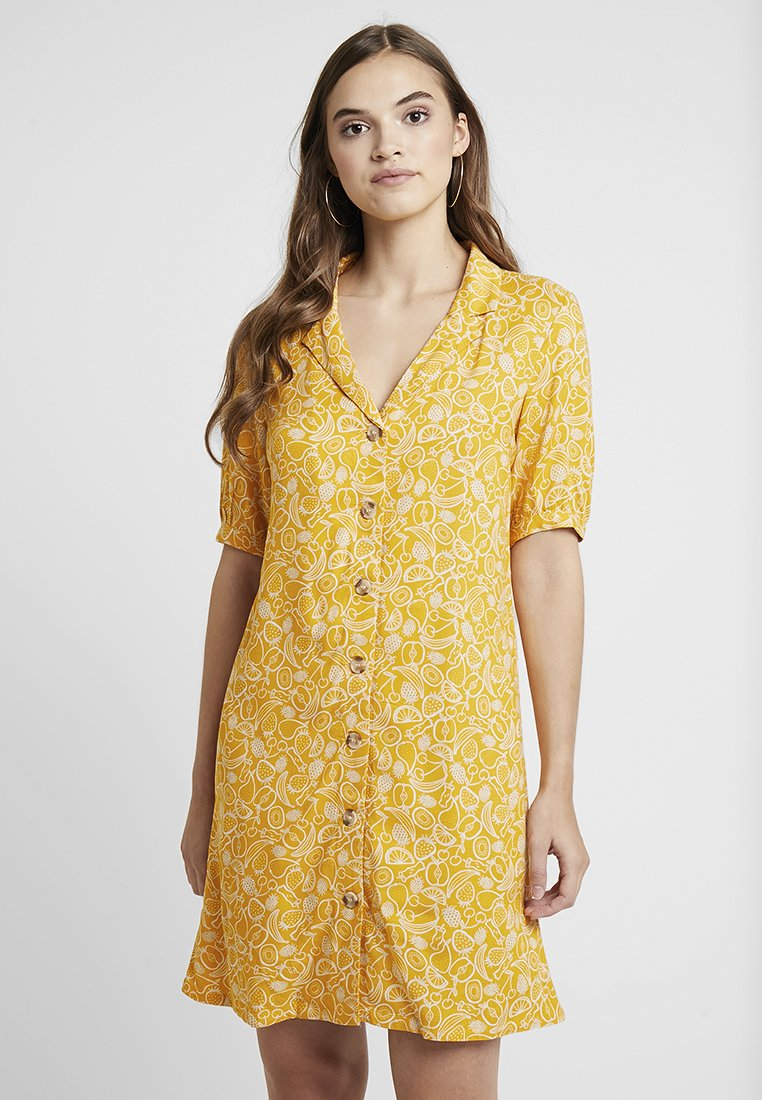 Monki - OWA DRESS - Košilové šaty - yellow/white