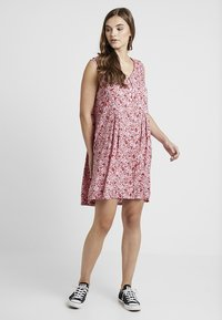 Monki - VIOLA DRESS - Blusenkleid - pink/red - 1