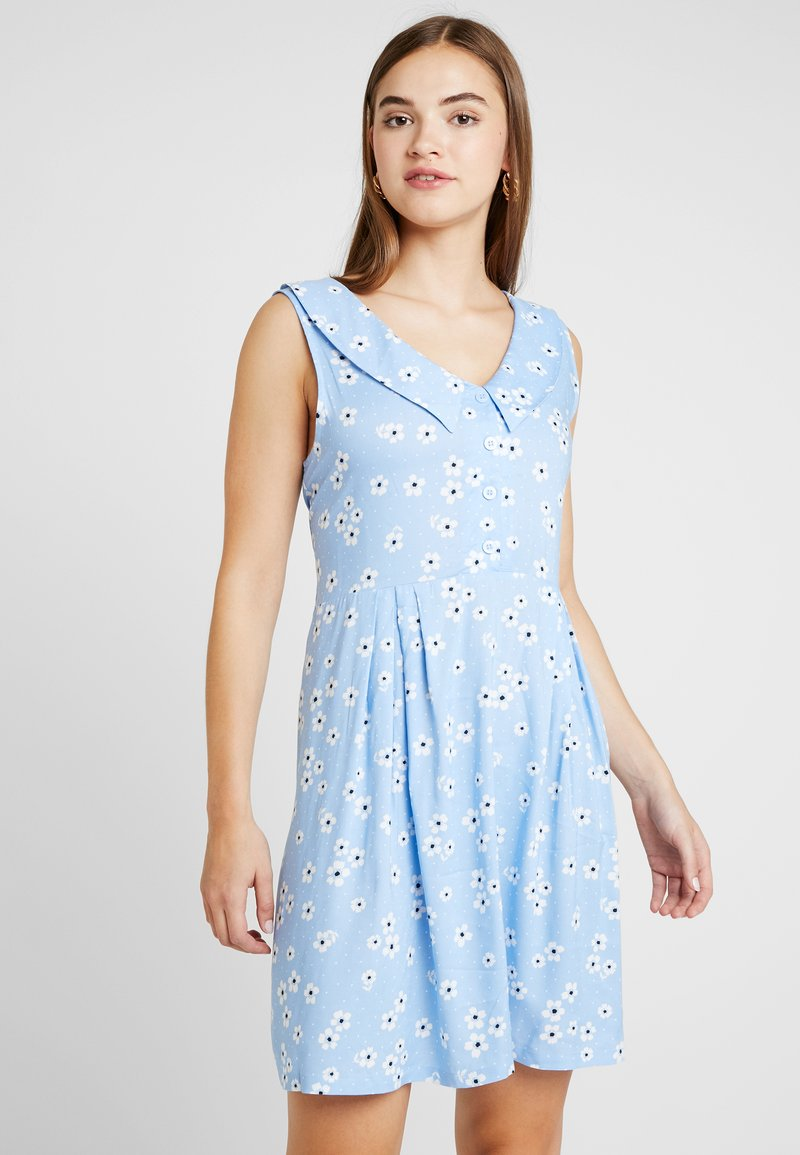 Monki - VIOLA DRESS - Skjortekjole - light blue
