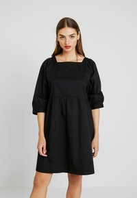 Monki - ROMINA DRESS UNIQUE - Kjole - black - 0