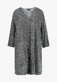 Monki - YESSA DRESS UNIQIE - Košilové šaty - black/white - 5