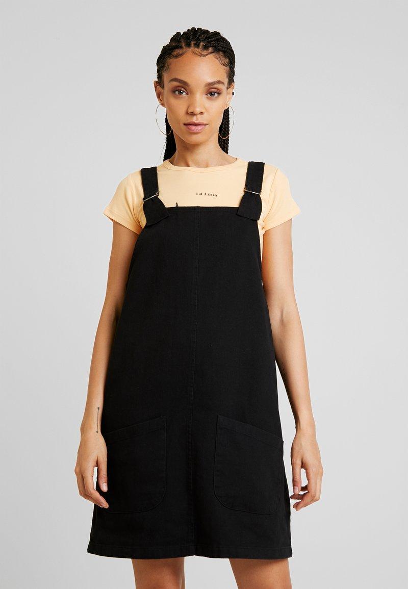 Monki - RUE DRESS - Denim dress - black