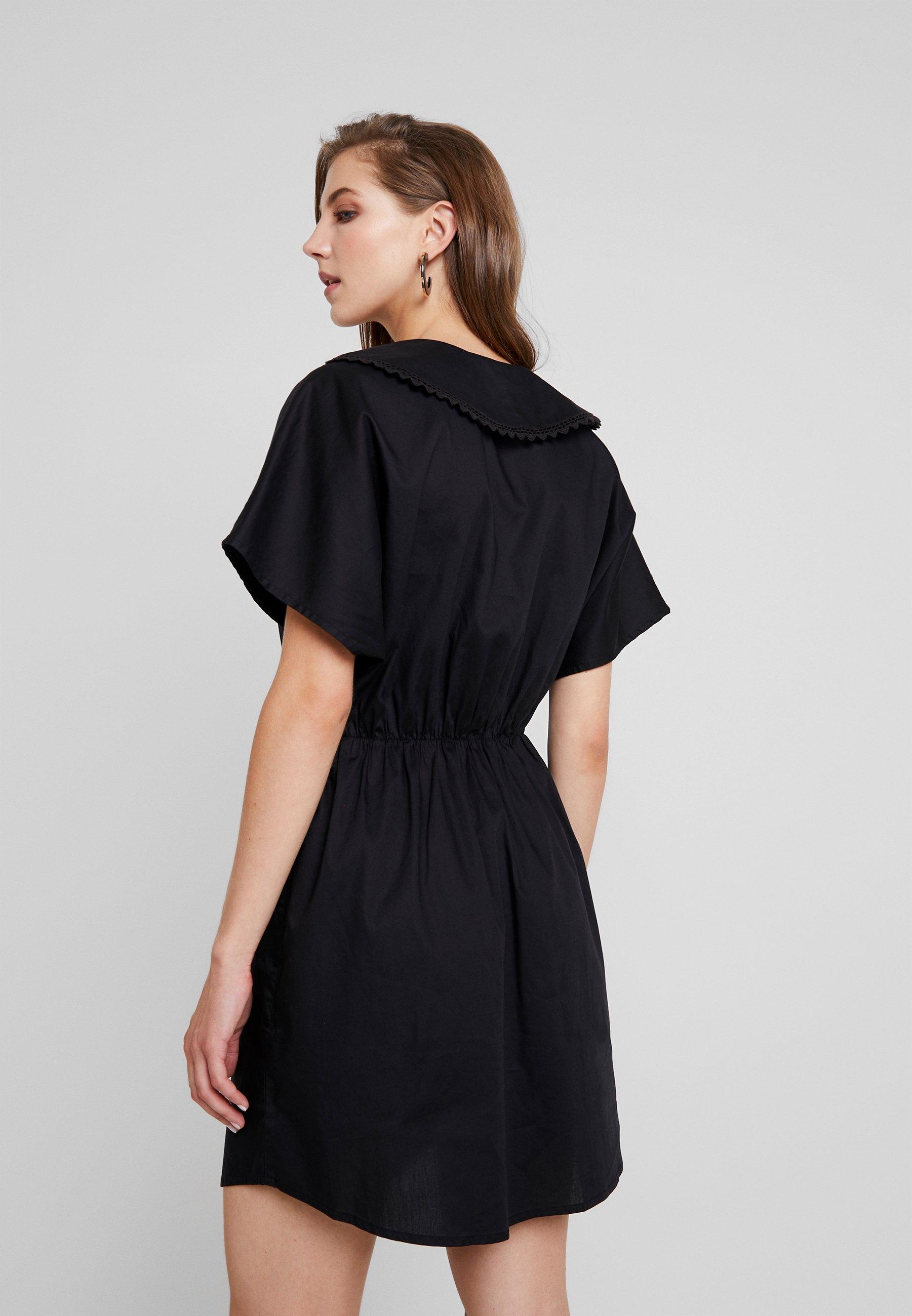 Monki Signe DressRobe Chemise Monki Signe DressRobe Black Nv8wmn0