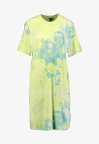 Monki - KARINA DRESS - Žerzejové šaty - tiedye light green - 4