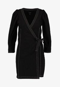 Monki - AYLA DRESS - Denim dress - black - 6