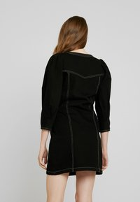 Monki - AYLA DRESS - Denim dress - black - 3