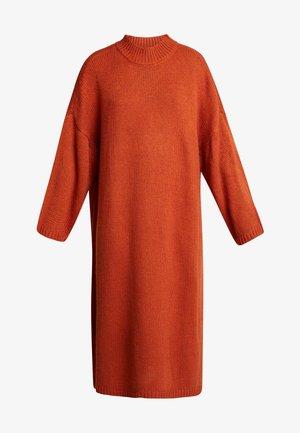 MALVA DRESS - Pletené šaty - rust