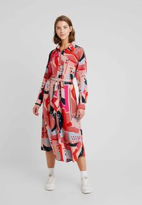 Monki - BERTA DRESS - Shirt dress - painted geometric - 0