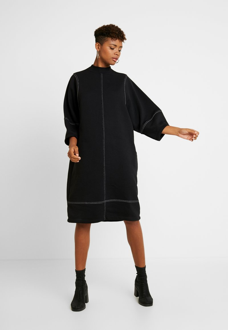 Monki - KARIN DRESS - Jersey dress - black/white