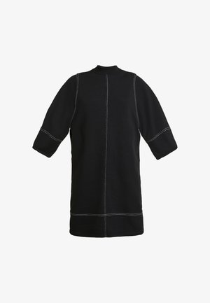 KARIN DRESS - Jerseykjole - black/white