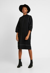 Monki - KARIN DRESS - Jersey dress - black/white - 2